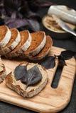 Franskt laga mat, pate för feg lever Läckert aptitretande royaltyfri fotografi