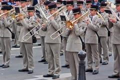 Franskt militärt band Arkivbilder