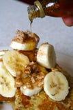 Franskt rostat bröd för bananvalnöt Arkivbild