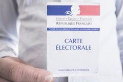 Franskt val- begrepp för för Closeup för kort, presidents- och lagstiftnings- val Arkivfoton