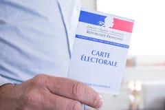 Franskt val- begrepp för för Closeup för kort, presidents- och lagstiftnings- val Royaltyfri Fotografi