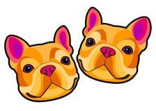 Fransman för bulldogg för älsklings- djur för hundavel gullig royaltyfri illustrationer