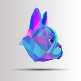Fransman för bulldogg för älsklings- djur för hundavel gullig vektor illustrationer