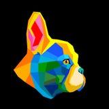 Fransman för bulldogg för älsklings- djur för hundvektoravel gullig royaltyfri illustrationer