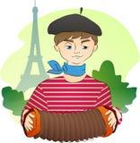 Fransman onder de Toren van Eiffel Royalty-vrije Stock Foto's