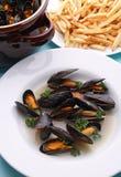 fransman stekt mussla royaltyfri foto