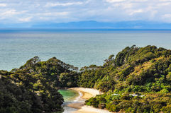 Fransmanfjärd i Abel Tasman National Park, Nya Zeeland Fotografering för Bildbyråer