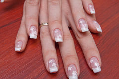 fransmannen hands manicuren Royaltyfri Foto
