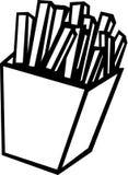 fransmannen steker illustrationpotatisvektorn Royaltyfri Fotografi