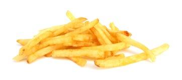 fransmannen steker potatisar Arkivbild