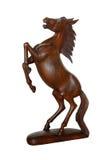 Frantic horse. Wood frantic horse isolated on white background Stock Image
