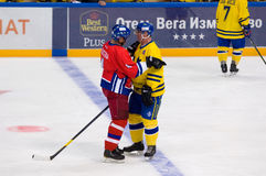 Frantisek Kucera (4) und Magnus Roupe (19) Lizenzfreie Stockfotos