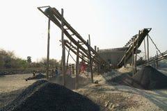 Frantoi per pietre in India Immagini Stock