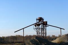 Frantoi per pietre per l'estrazione dei minerali e della costruzione delle rocce Fotografia Stock Libera da Diritti