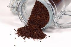 Frantumazioni del caffè fotografie stock libere da diritti