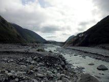 Остров Новая Зеландия долины ледника Frantz Josef южный стоковое фото