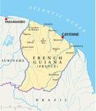 Französisch-Guayana politische Karte vektor abbildung