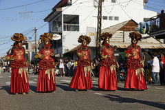 Französisch-Guayanas jährlicher Karneval 14. Februar 2010 lizenzfreies stockfoto