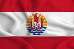 Französisch-Polynesien-Flaggenillustration lizenzfreie abbildung