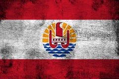 Französisch-Polynesien rostig und Schmutzflaggenillustration vektor abbildung