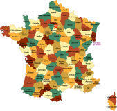 Französische Abteilung. stock abbildung