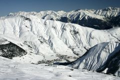 Französische Alpen IV Stockfotos