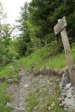 Französische Alpen-Spur Lizenzfreies Stockfoto