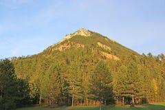 Französische Alpen, wenn Sonne geglättet wird stockbilder