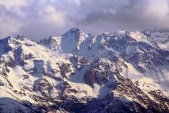 Französische Alpenlandschaft Lizenzfreie Stockfotos