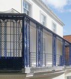 Französische Art-Eisen-Balkon-Geländer Lizenzfreie Stockfotos