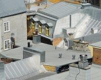 Französische Artdächer Stockfotografie