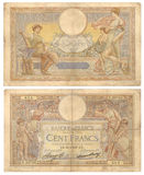 Französische Banknote - 100 Francs (1937) Stockfotos