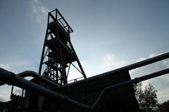 Französische Bergwerkgrube verlassen lizenzfreie stockbilder
