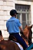 Französische berittene Polizei Stockfotografie