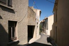 Französische Dorfstraße Stockbild