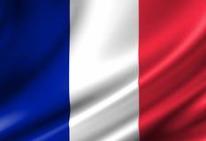 Französische Flagge stock abbildung
