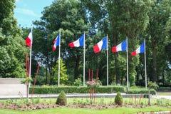 Französische Flagge von Frankreich Lizenzfreies Stockfoto