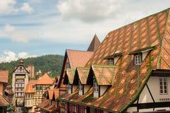 Französische Gebäude Colmars Tropicale in Malaysia stockbild