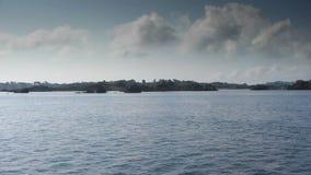 Französische Insel Ile de Brehat der Bootsreise stock video footage