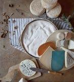 Französische Käse Lizenzfreie Stockfotos