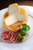 Französische Käseplatte Stockfotografie