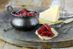 Französische Küche - Zwiebel Confiture Lizenzfreie Stockfotos