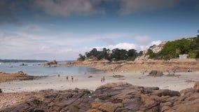 Französische Küste PAN Insel Ile de Brehat stock video