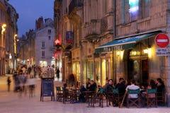 Französische Kneipe in Besançon Stockbilder