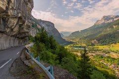 Französische Landschaft Cliff Road Lizenzfreies Stockbild