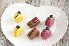 Französische macarons meringe Lizenzfreie Stockfotos
