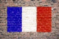Französische Markierungsfahne Lizenzfreies Stockbild