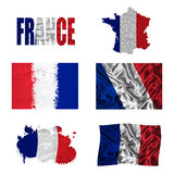 Französische Markierungsfahnencollage Lizenzfreies Stockfoto