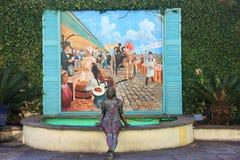 Französische Markt-Skulptur Lizenzfreie Stockfotografie