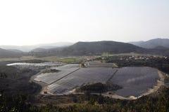Französische photo-voltaische Solaranlage Lizenzfreie Stockfotografie